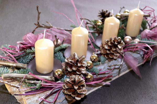 Adventní svícen Pastelové pohlazení