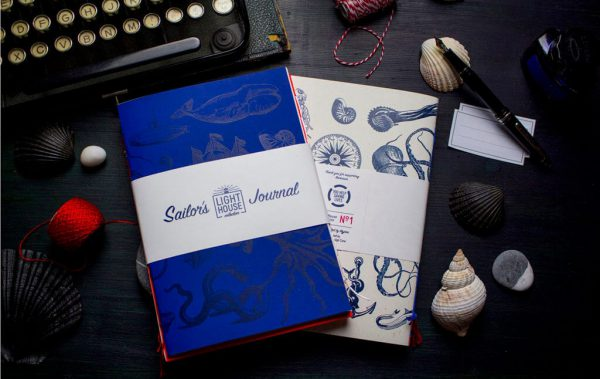 Ručně vyrobené notesy LIGHTHOUSE s námořnickou tematikou