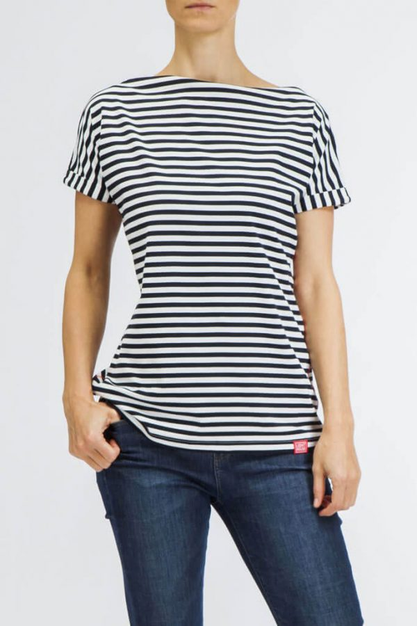 Modrobílé proužkované dámské tričko LIGHTHOUSE